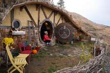Hobbit Inn, Douglas County: For $400 a night via AirBnB, duck your head under the circular door frame, and sleep within the underground hygge amid the Columbia River Gorge mountainside. Features highlight a stone fireplace, carved wooden decor, and ultimate elfish exclusivity.
