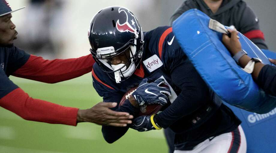 Houston Texans wide receiver Vyncint Smith runs a drill during training camp at the Methodist Training Center on Tuesday, Aug. 20, 2019, in Houston. Photo: Brett Coomer, Houston Chronicle / Staff Photographer / © 2019 Houston Chronicle