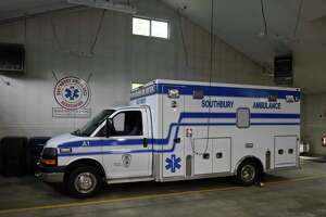 An ambulance in a bay of the Southbury Ambulance Association head quarters, Thursday afternoon, September 27, 2018, in Southbury, Conn.