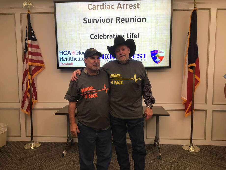 Both Nick Waters (left) and Kenneth Williams were reunited with staff that saved them when they had heart attacks Photo: Provided By Northwest Community Health