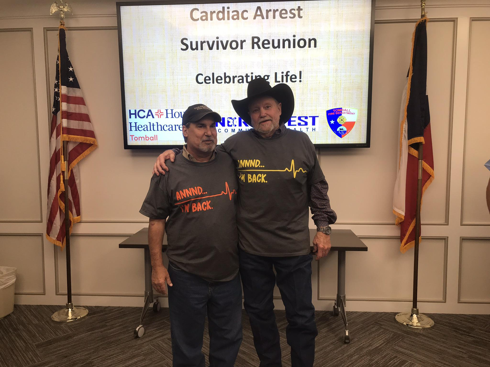 Tomball heart attack survivors reunite with staff that saved their lives