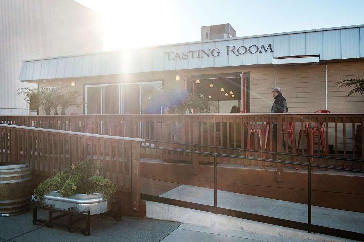 The tasting room at Rockwall Winery in Oakland, Calif, on Friday, February 22, 2019.