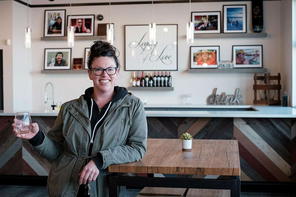 Winemaker Shauna Rosenblum stands for a portrait in a newly built private tasting room at Rockwall Winery in Oakland, Calif, on Friday, February 22, 2019.