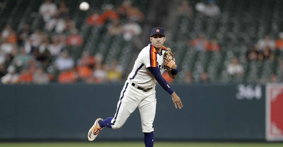 PHOTOS: Astros game-by-game Houston Astros shortstop Carlos Correa throws out Baltimore Orioles' Stevie Wilkerson at first during the ninth inning of a baseball game, Friday, Aug. 9, 2019, in Baltimore. (AP Photo/Julio Cortez) Browse through the photos to see how the Astros have fared in each game this season. Photo: Julio Cortez/Associated Press