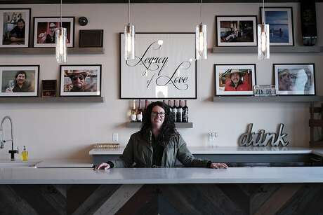 Winemaker Shauna Rosenblum in the Reserve Room at Rock Wall Wine Co. in Alameda Photo: Michael Short / Special To The Chronicle