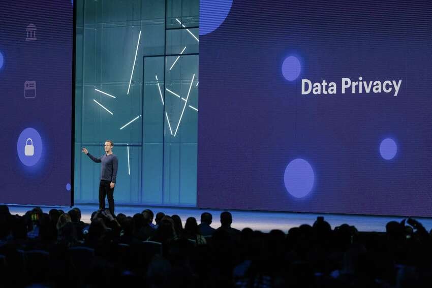 FILE-- Mark Zuckerberg, Facebooka€™s chief executive, speaks at F8, the companya€™s annual developer conference in San Jose, Calif., May 1, 2018. On Aug. 20, 2019, the company introduced a new tool, called Off-Facebook Activity, that lets people better see and control the information that Facebook has gathered about their browsing habits outside the social network. (Jason Henry/The New York Times)