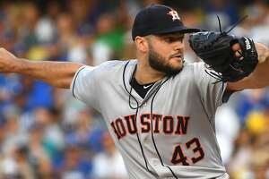 LOS ANGELES, CA - AUGUST 04:  Lance McCullers Jr. #43 of the Houston Astros pitches in the third inning of the game against the Los Angeles Dodgers at Dodger Stadium on August 4, 2018 in Los Angeles, California.  (Photo by Jayne Kamin-Oncea/Getty Images)