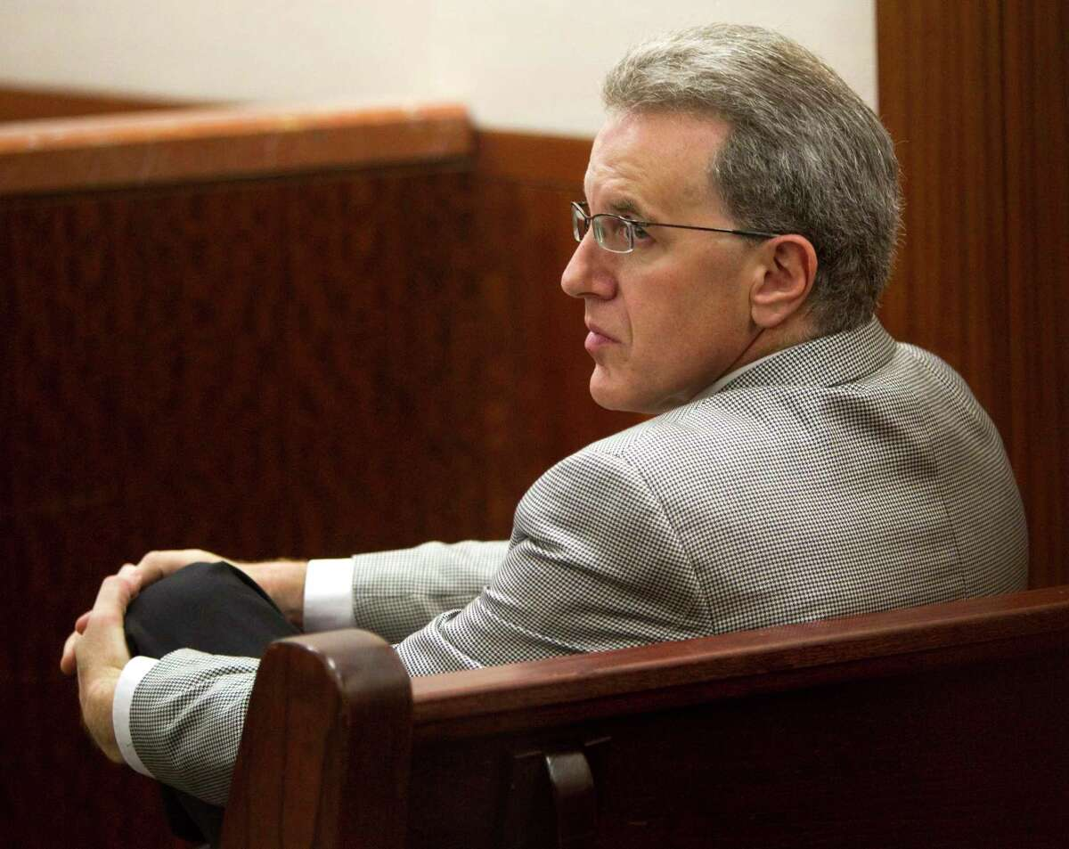 Jeffrey Stern sits in the Harris County Criminal Court #5 to appear on a misdemeanor gun charge Wednesday, June 30, 2010, in Houston. Stern is charged with unlawfully carrying a weapon, a misdemeanor. Police continue to investigate three attempts to kill Yvonne Stern in an alleged plot by 37-year-old Michelle Gaiser, who was having an affair with Stern's husband, Jeffrey Stern. Jeffrey Stern has not been accused in the alleged plot. His wife filed for divorce this month.( Brett Coomer / Houston Chronicle )