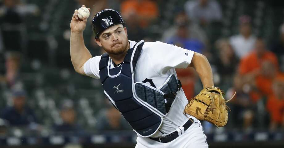 PHOTOS: Astros game-by-game Detroit Tigers catcher Jake Rogers throws to first base for an out on a Chicago White Sox's Leury Garcia sacrifice bunt in the eighth inning of a baseball game in Detroit, Monday, Aug. 5, 2019. (AP Photo/Paul Sancya) Browse through the photos to see how the Astros have fared in each game this season. Photo: Paul Sancya/Associated Press