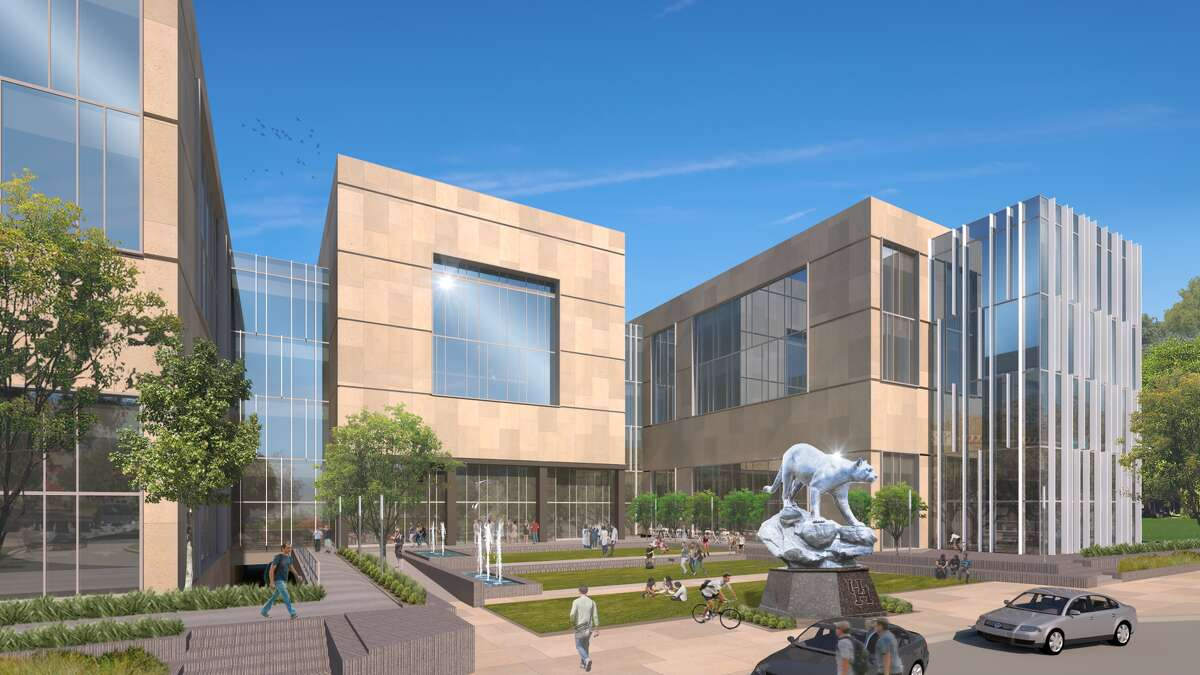 Artist's rendering of the Plaza at the UH College of Medicine.