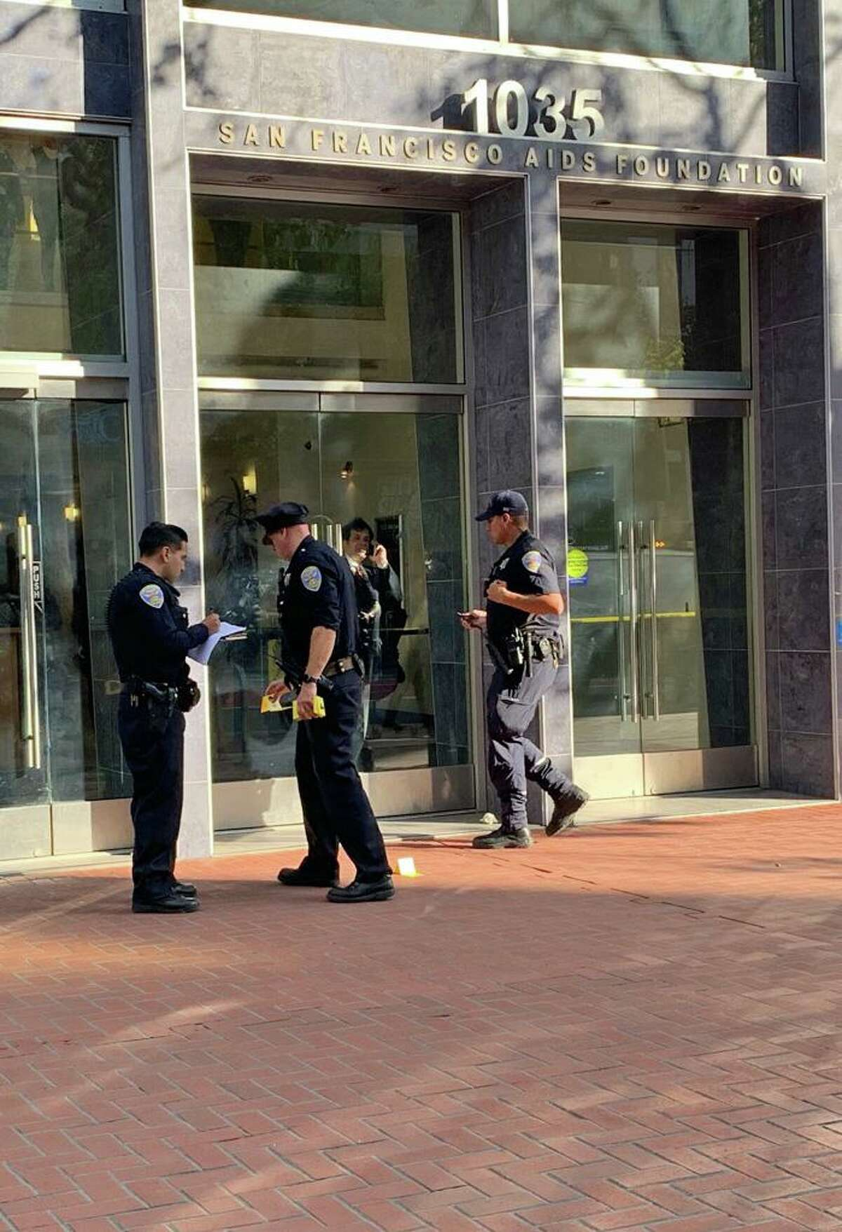 San Francisco police are investigate a shooting on Market Street that occurred during an altercation among several people Tuesday, August 20, 2019.
