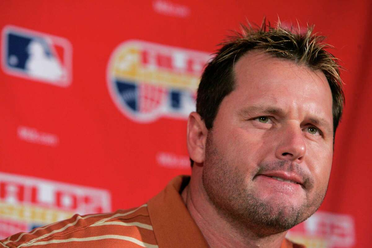 ** FILE ** New York Yankees pitcher Roger Clemens speaks at a news conference at Yankee Stadium in New York in this Oct. 6, 2007 file photo. (AP Photo/Julie Jacobson)