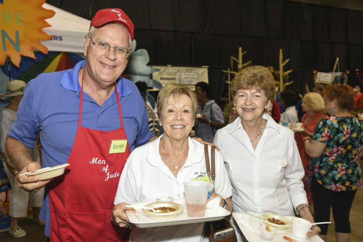 People at the Some Other Places' food tasting in the Beaumont Civic Center on Tuesday. Photo taken on Tuesday, 08/20/19. Ryan Welch/The Enterprise