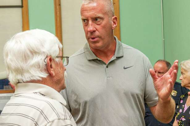 The presumptive next mayor of Cohoes, Bill Keeler, was at Cohoes City Hall to watch the Common Council swear in Common Council President Chris Briggs as the new, temporary mayor on Tuesday, Aug. 20, 2019 (Jim Franco/Special to the Times Union.)