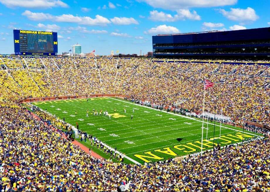The 50 largest college football stadiums While the league is enjoying reaching a broader audience than ever before, the average in-person attendance at college football games has slumped seven times in the last eight years, with an average of 41,856 fans per game in 2018 according to CBS Sports. Stacker looks at the 50 largest college football stadiums. Photo:  AndrewHorne // Wikimedia Commons