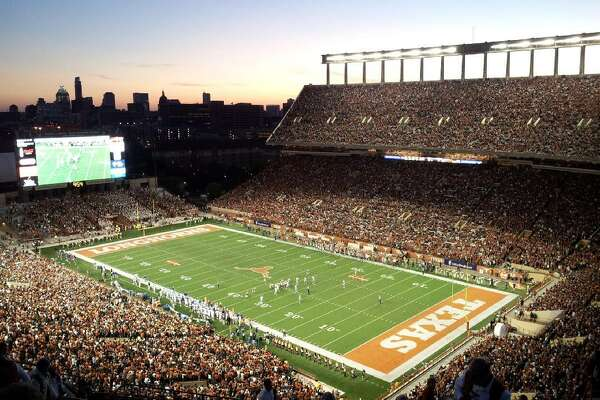 "#8. Darrell K Royal-Texas Memorial Stadium - College: Texas - Conference: Big 12 - Capacity: 100,119 - Opened: 1924 Fast facts: DKR-Texas Memorial Stadium is named in honor of former coach Darrell Royal, who coached the Longhorns from 1957 to 1976. Among the traditions at Texas home games is the singing of ""The Eyes of Texas,"" as the world's largest Texas state flag is displayed along the field. Roaming the sidelines at DRK is the Texas mascot Bevo, a live steer that gives rise to the team's hand signal and motto, ""Hook 'em Horns."" Marquee game: Nov. 27, 1998 - Texas 26, Texas A&M 24 This slideshow was first published on theStacker.com"