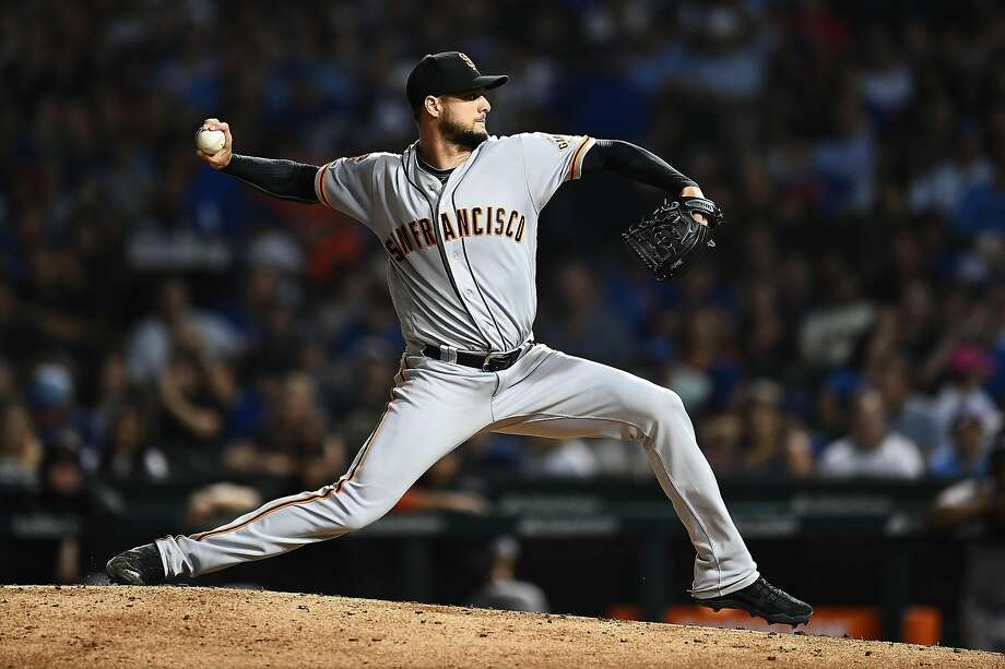 FILE PHOTO: Tyler Beede #38 of the San Francisco Giants throws a pitch during the fourth inning against the Chicago Cubs at Wrigley Field on August 20, 2019 in Chicago, Illinois. Photo: Stacy Revere / Getty Images