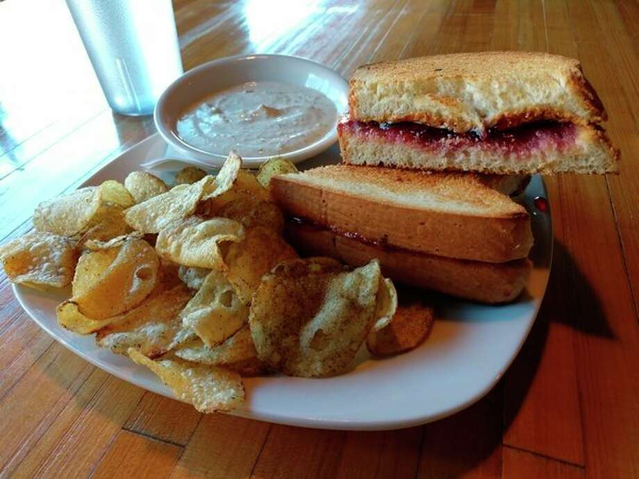 Whichcraft at 124 Ashman St. in Midland chose to run with smooth peanut butter, which was just lovely, complimented by a wonderful jam for its PB&J sandwich, toasted. The sandwich was wonderful, and it ate more like a dessert than an entrée.(Photo for the Daily News |Matthew Woods)