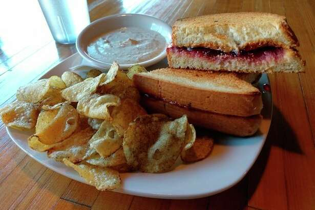 Whichcraft at 124 Ashman St. in Midland chose to run with smooth peanut butter, which was just lovely, complimented by a wonderful jam for its PB&J sandwich, toasted. The sandwich was wonderful, and it ate more like a dessert than an entrée. (Photo for the Daily News | Matthew Woods)