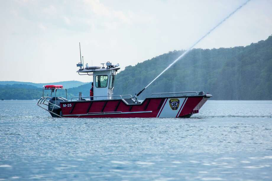 The Brookfield Volunteer Fire Department Candlewood Company's new fire/rescue boat went into service on Monday. The boat was built in Superior Wisconsin by Lake Assault Boats. The boat is powered by dual 200 Yamaha motors that are controlled with the Seastar Optimus 360-degree Joystick control system. This system allows the engines to operate independently to provide fine low-speed controlled movements to the vessel for better maneuverability and precision. Photo: Brookfield Volunteer Fire Department Candlewood Company Photo