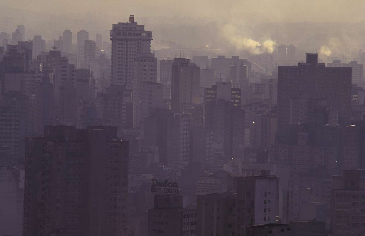 Air pollution, smoke and reinforced concrete in Sao Paulo, Brazil, are seen in this file photo.