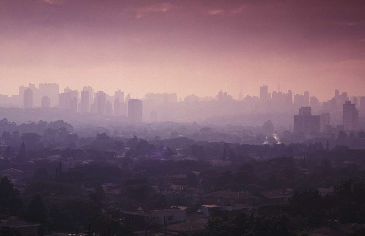 Sao Paulo cityscape shows air pollution and skyline of the city during sunset in this file photo.