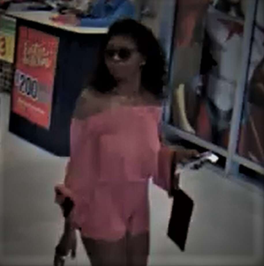 New Braunfels police are looking for a woman who used a stolen credit card at an H-E-B store on Walnut Avenue in July. Crime Stoppers is offering a reward for information that leads to an arrest. Photo: New Braunfels Police