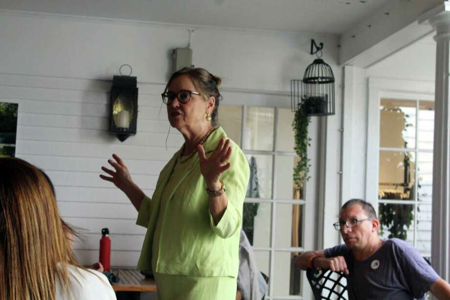 Secretary of State Denise Merrill spoke at a ReSisters meeting on Monday about election security and the work her office is doing. Taken Aug. 19, 2019 in Westport, CT. Photo: Lynandro Simmons/Hearst Connecticut Media