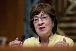 Sen. Susan Collins is shown at a Senate Appropriations Subcommittee on Transportation hearing on July 31, 2019.