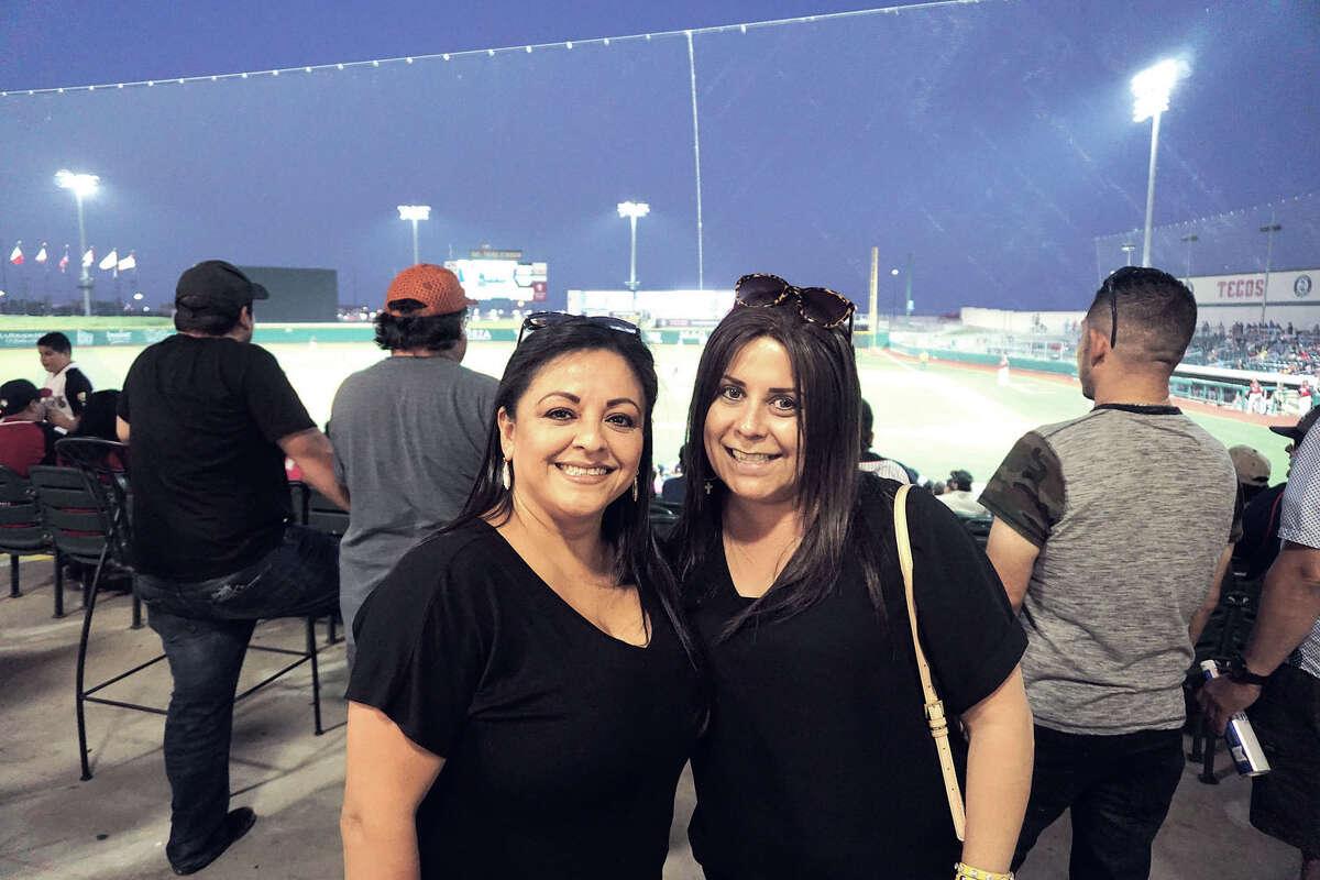 Hilda Quintanilla and Juanita Esquivel at Uni-Trade Stadium