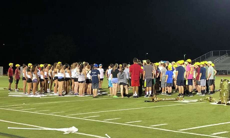 The Trumbull High School Golden Eagle Marching Band's (THSGEMB) 46th season welcomes musicians, percussionists, color guard, and drum majors back to band camp to learn their 2019 fall show 'Toxic.' Photo: Contributed Photos