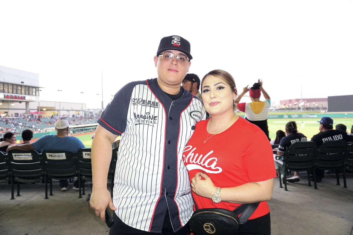 Andy Garcia and Caro Mora at Uni-Trade Stadium Friday, August 16, 2019