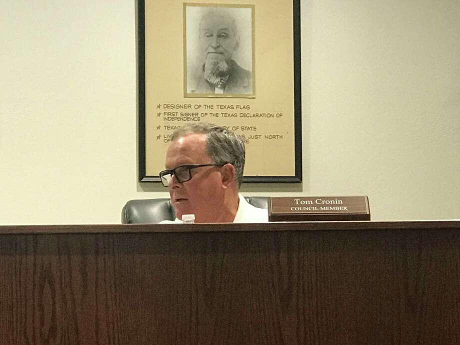 Tom Cronin discusses the option of abolishing the Montgomery Economic Development Corporation on Tuesday, August 13, 2019. No action was taken on the discussion only item, which the city has a few months to ponder. Photo: Meagan Ellsworth / Meagan Ellsworth
