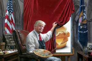 The internet had too much fun with an artist's painting of President Trump.