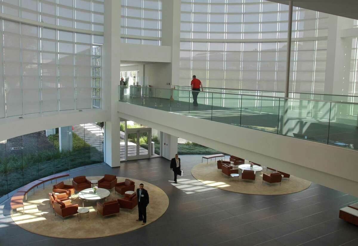 (For the Chronicle/Gary Fountain, March 5, 2013) The main reception area of the ConocoPhillips campus.