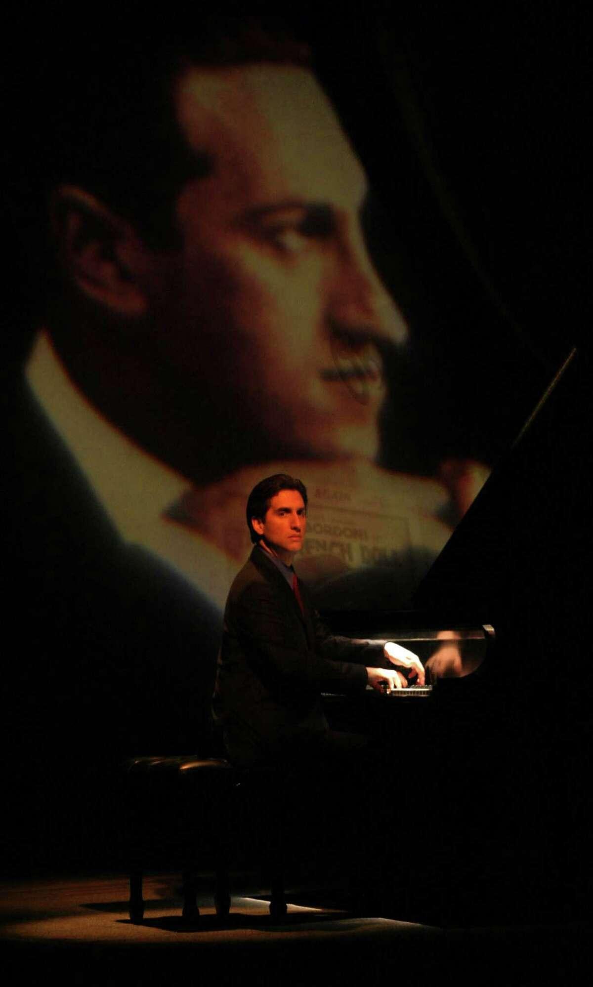 "Hershey Felder in ""Gershwin Alone."" Photo credit: Mark Garvin"