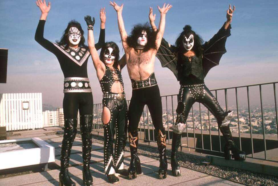 Kiss in New York City in the mid-70s when they were on top. (Getty Images)