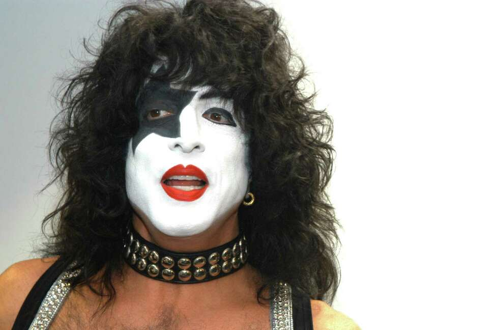 Paul Stanley during KISS Receives Gold Record During In-Store Appearance Promoting New CD