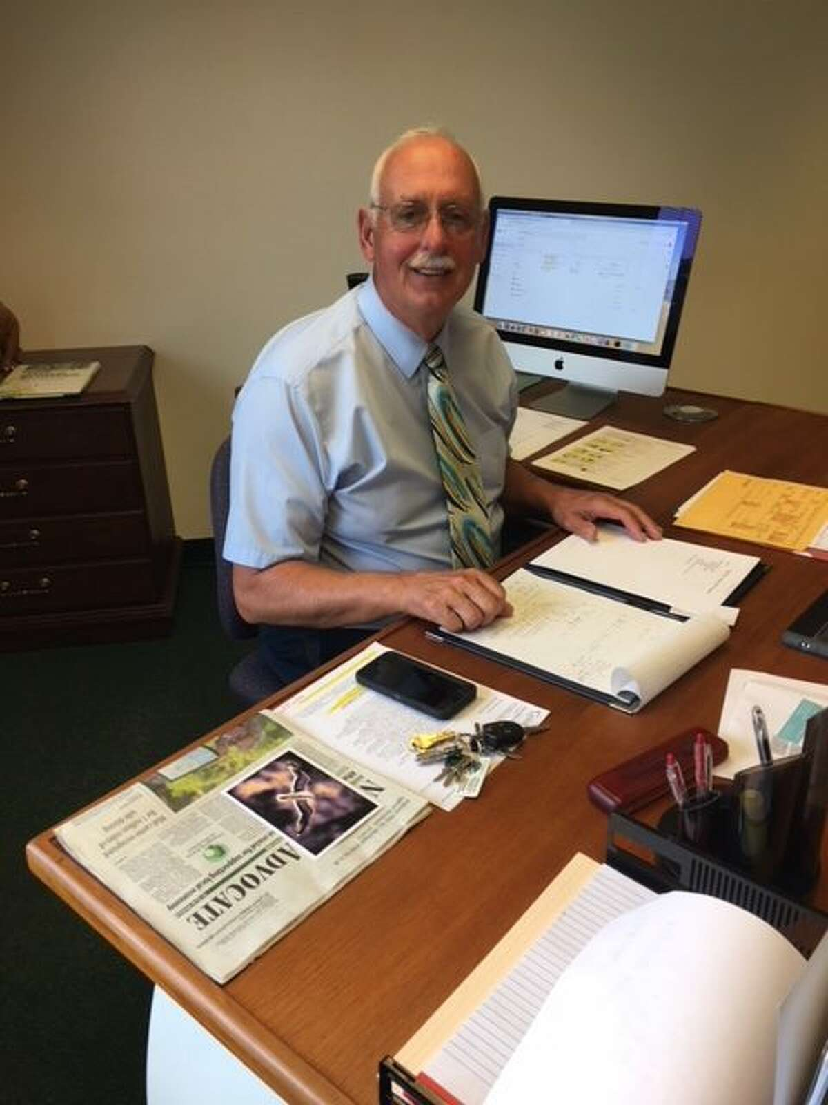 Onekama Consolidated Schools interim superintendent Mark Parsons began on the job on Monday. Parsons was hired on a one-year contract while the district looks at finding a permanent superintendent for the start of the 2020-21 school year. (Courtesy photo)
