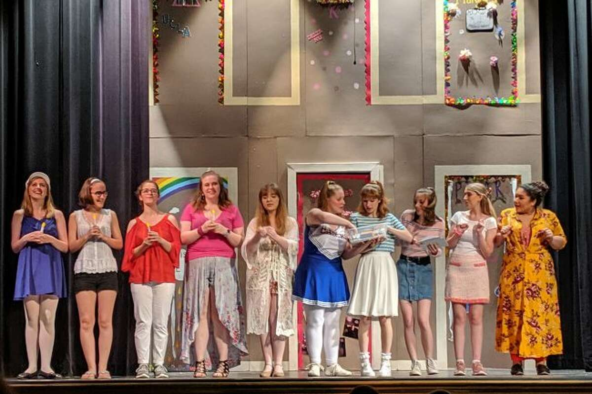 """There are many female roles in the Manistee Civic Players' production of """"Legally Blonde the Musical."""" (Courtesy photo/Julie Mueller)"""