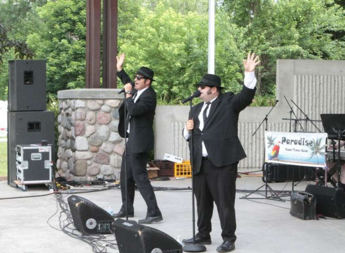 The Soul Men, an Ohio-based Blues Brothers tribute band, performed during the Blues, Brews and Barbecue festival in 2019. (Pioneer photos/Taylor Fussman)