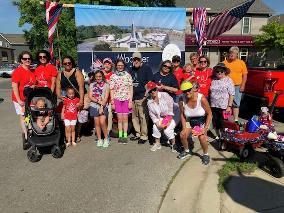 All generations prepare to walk in the Manistee National Forest Festival's Fourth of July parade for the Manistee County Council on Aging. (Courtesy photo)