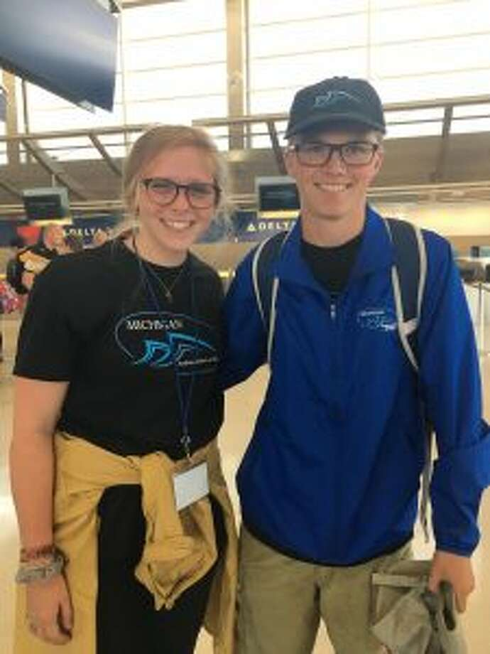 Maci Kunkel and Tyler Iverson prepare to depart for Europe where they will represent Benzie Central with the Michigan Ambassadors of Music. (Courtesy photo)