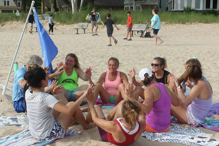 Beach Bootcamp & Abs provides a fun group atmosphere. (Photo/Robert Myers)