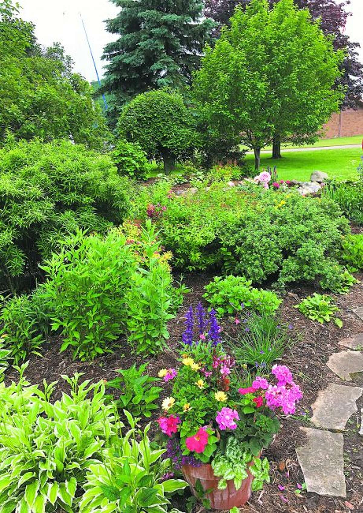 The Periwinkle Garden Club of Frankfort cares for seven gardens, including the one at Mineral Springs Park. (Courtesy photo)