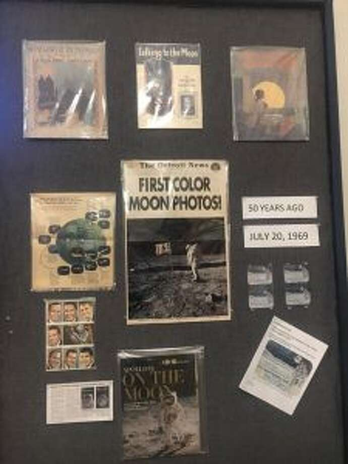 The Benzie Area Historical Society has an exhibit on the moon landing featuring news articles on the landing from 1969, as well as other artifacts. (Courtesy Photo)