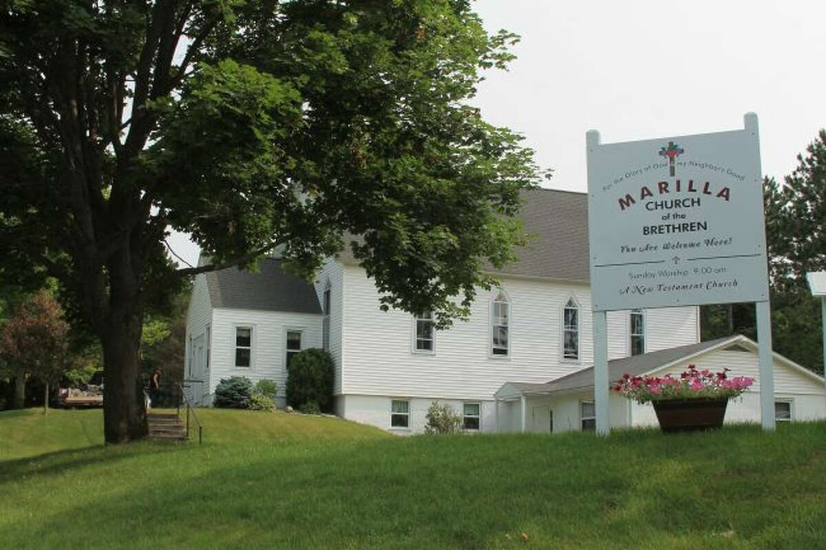 Congregants of the Marilla Church of the Brethren plan a weekend of celebration in honor of their church's centennial anniversary. (Scott Fraley/News Advocate)