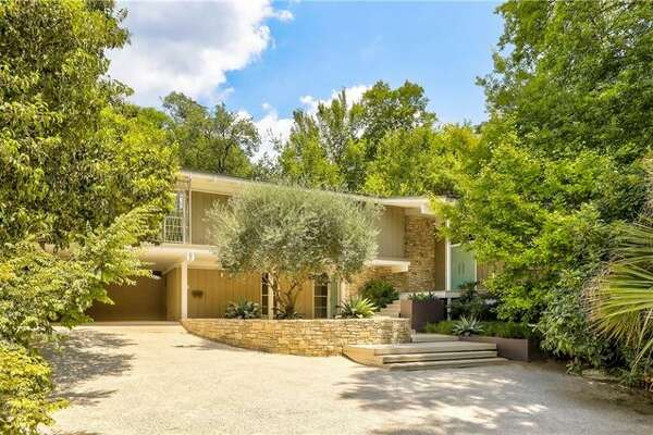 This split-level Austin home was designed in 960 by architect Barton Riley.