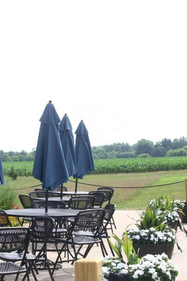 Gwin Girls Winery offers customers 20 acres of views in their outdoor seating area. The new business hopes to expand in the future with additional seating and a wrap-around porch. (Pioneer photo/ Catherine Sweeney)