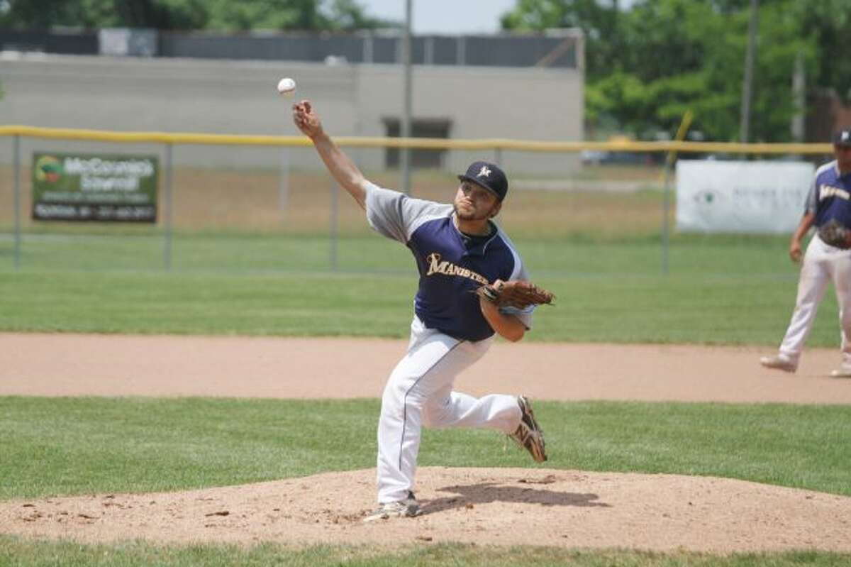 The Manistee Saints' Kyle Gorski (above) and Roddy MacNeil (below) will look to help extend the team's seven-game winning streak this weekend against the Mid Michigan Starz at Rietz Park. (News Advocate file photos)